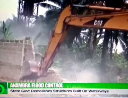 Demolishing of structures built on Waterways